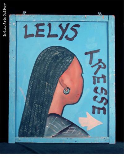 LELYS TRESSE Two-sided Hairdresser Sign