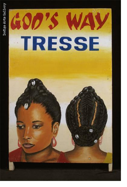 GOD'S WAY TRESSE (#1) Sandwich board-style Hairdresser Sign