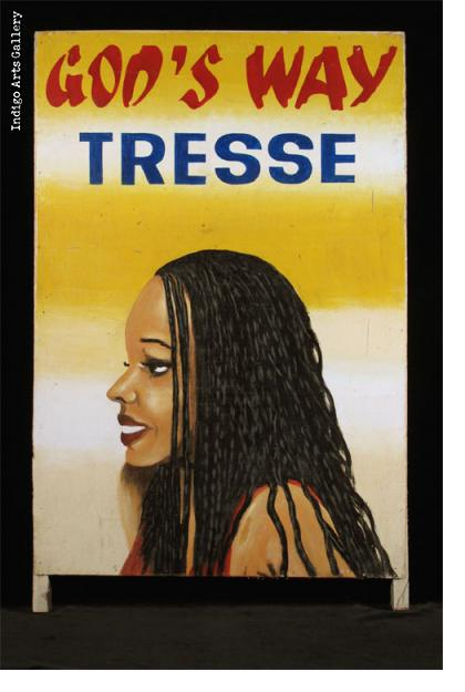 GOD'S WAY TRESSE (#2) Sandwich board-style Hairdresser Sign