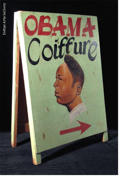 OBAMA Coiffure Sandwich board-style Hairdresser Sign