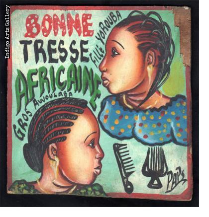Bonne Tresse Africaine Hairdresser's Sign