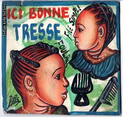 Ici Bonne Tresse Hairdresser's Sign