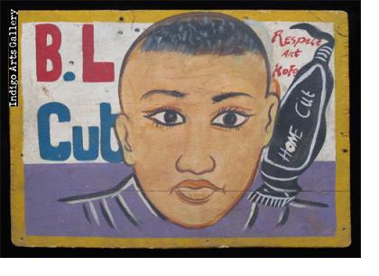B.L. Cut Hairdresser Sign