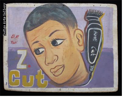 Z Cut Hairdresser Sign