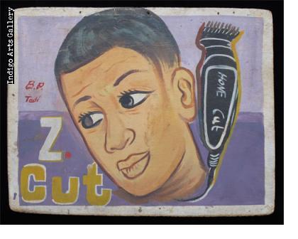 Z Cut Hairdresser Sign