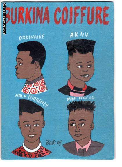 Burkina Coiffure Hairdresser's Sign