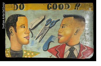 """Do Good!!"" Barbershop Sign"