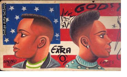 """'God's Time"""" - Barbershop Sign"""