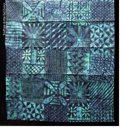 Yoruba Indigo Batik Cloth