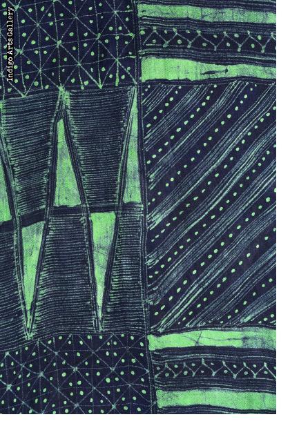 Batik Shawl on Rayon by Gasali Adeyemo