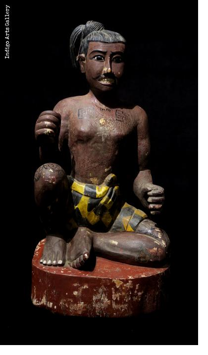 Antique Burmese Seated Figure