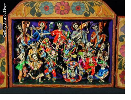 Dance of the Scissors) - Retablo