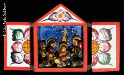 Nacimiento (Nativity) - Small Retablo
