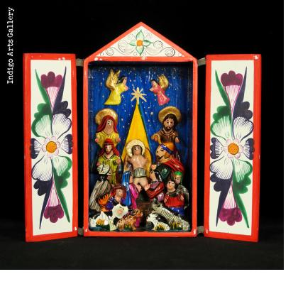 Nacimiento (Nativity) - Tall Retablo