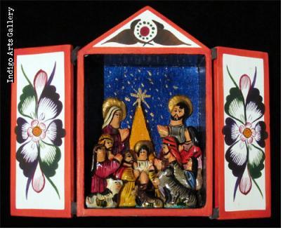 Nacimiento (Nativity) - Medium Retablo