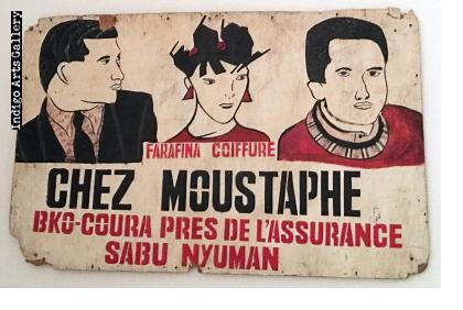 """Chez Moustaphe"" Hairdresser Sign"