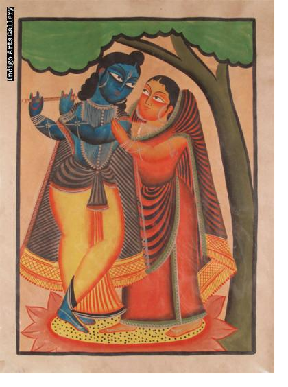 Kalighat Krishna and Gopi