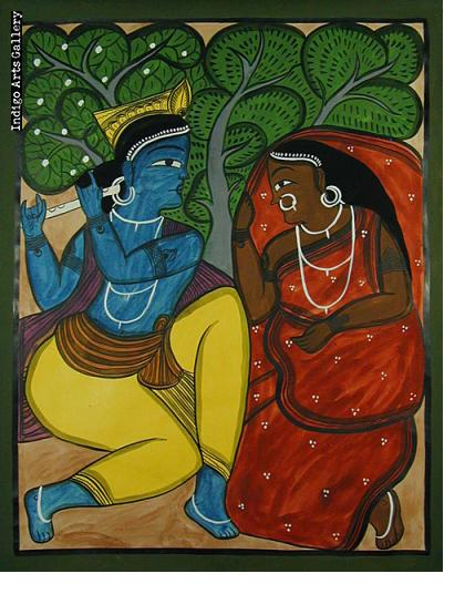 Krishna and Woman