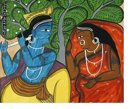Krishna and Woman