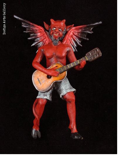 Devil Musician Ornament
