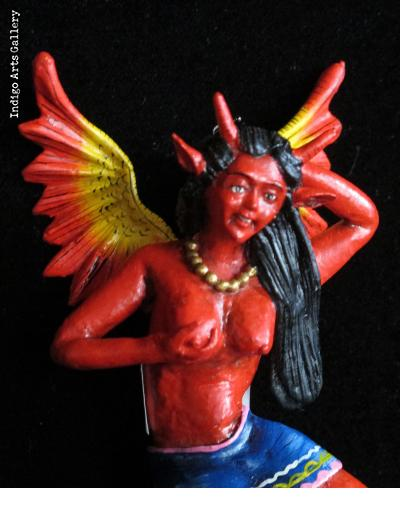 """La Chica Diabla"" Devil  Retablo Ornament"