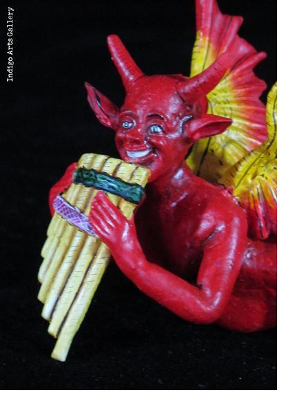 Devil with Pan Pipes Retablo Ornament