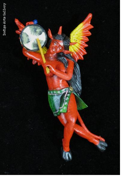 Devil with a Drum - Retablo Ornament
