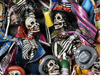 Fiesta de los Muertos (Party of the Dead) Retablo