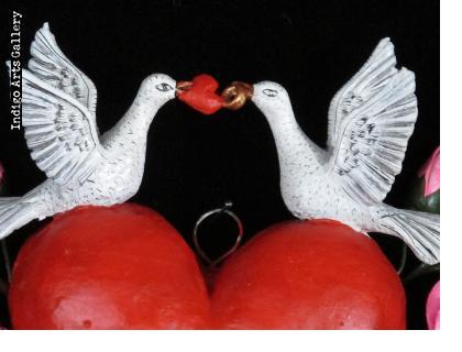 """Eres La Luz de Mis Hojos"""" Retablo Heart Ornament"""
