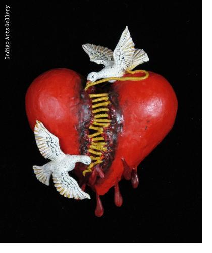 Repairing a Broken Heart - Retablo Ornament
