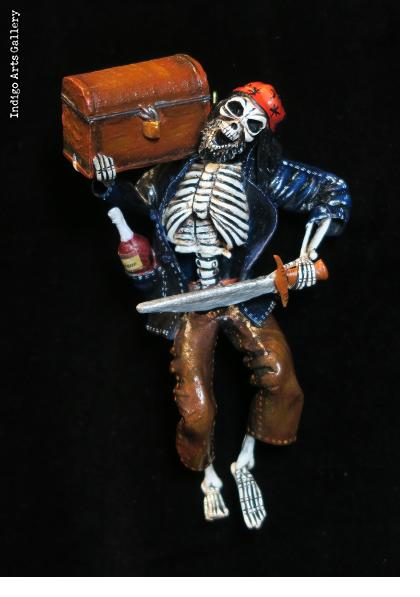 Calavera Pirate - Retablo figure