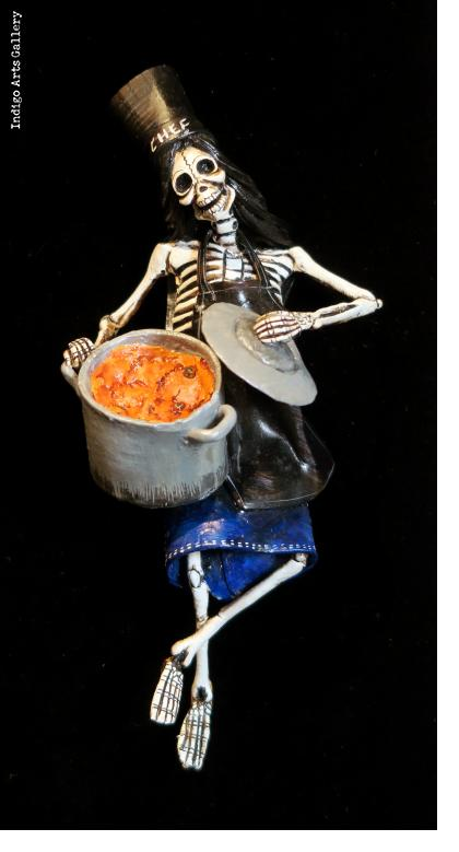 Calavera Soup Chef - Retablo figure