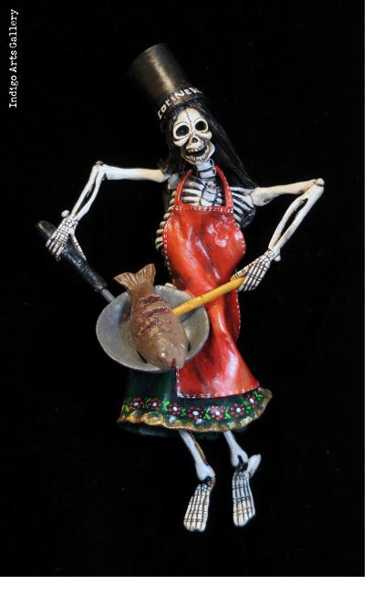 Fish Fryer of the Dead - retablo figure