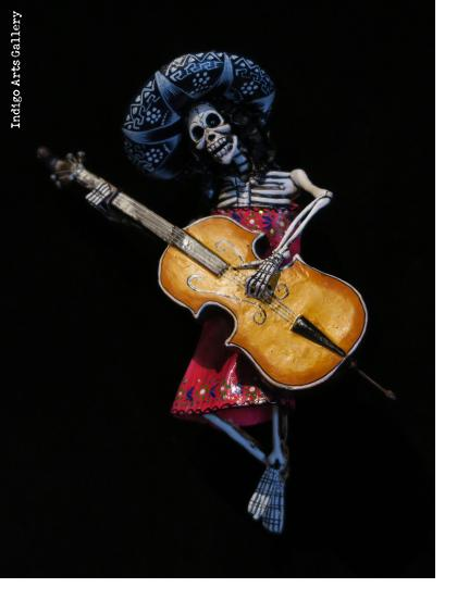 Mariachi of the Dead - retablo figure