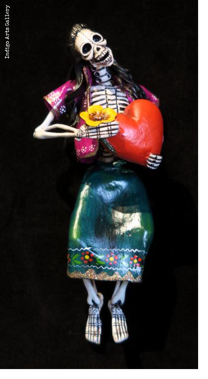Valentine of the Dead - retablo figure