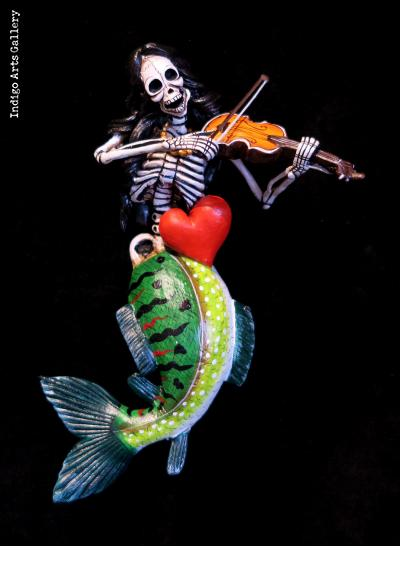 Valentine Mermaid of the Dead - retablo figure