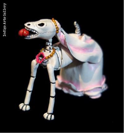 Calavera Novios Dogs - Retablo Figures