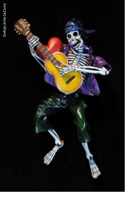 Guitarist of the Dead - retablo figure