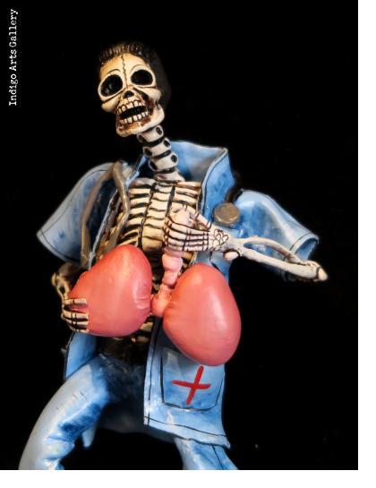 Transplant Surgeon of the Dead - retablo figure