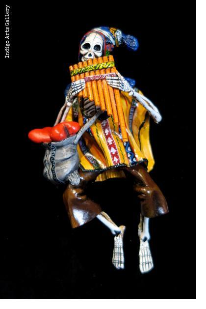 Panpiper of the Dead - retablo figure