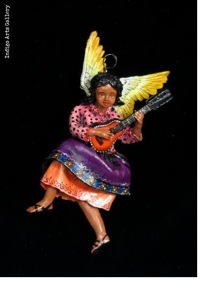 Angel with Accordion - retablo figure
