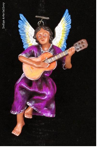 Retablo Angel Musician Ornament (guitar)