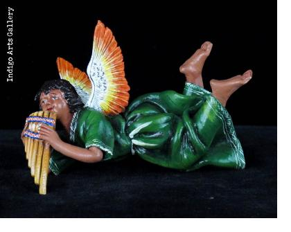 Retablo Angel Musician Ornament (panpipes)