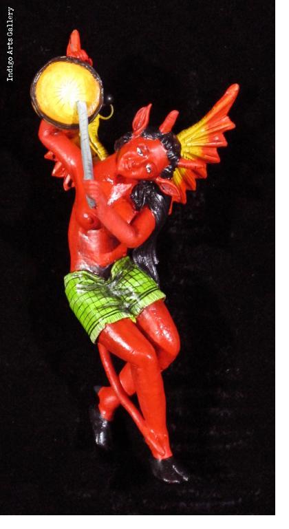 Devil Musician Retablo Ornament (Drum)