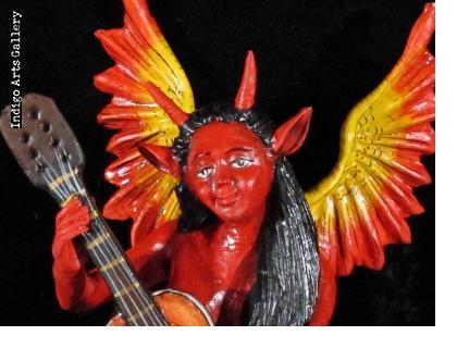 Devil Guitarist Retablo Ornament
