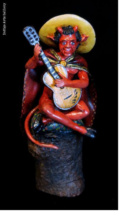 Diablo con Guitarra - retablo figure