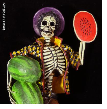 """""""Sandias del Muerte"""" (Watermelons of Death) - retablo figure"""
