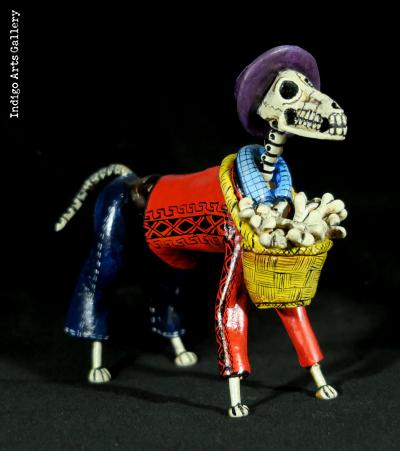 Calavera Bone-seller Dog - Retablo Figure