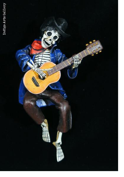 Calavera Clown - retablo figure