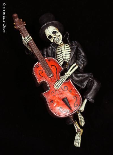 Cellist of the Dead - retablo figure
